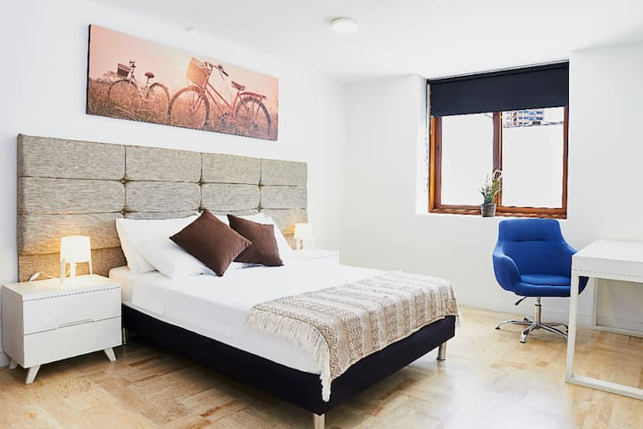 Big comfortable bedroom where you can relax in your vacations.
