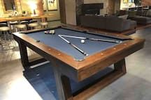 Lobby has pool table and wifi.