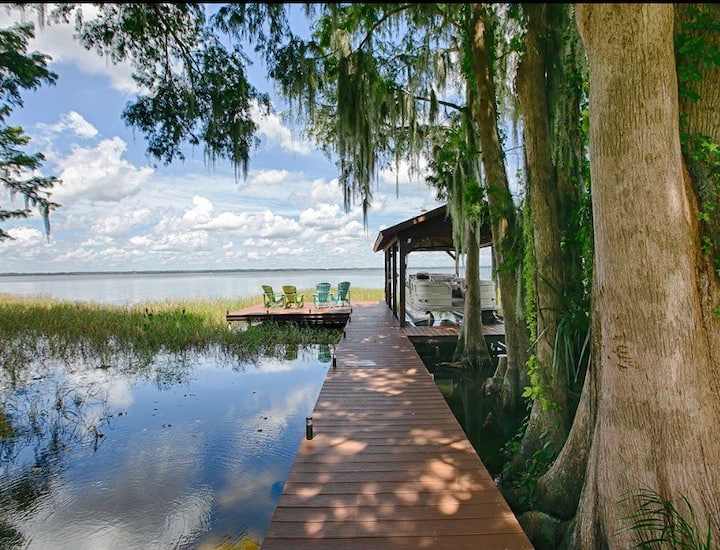 Relax and enjoy lakeside living on Lake Eustis.