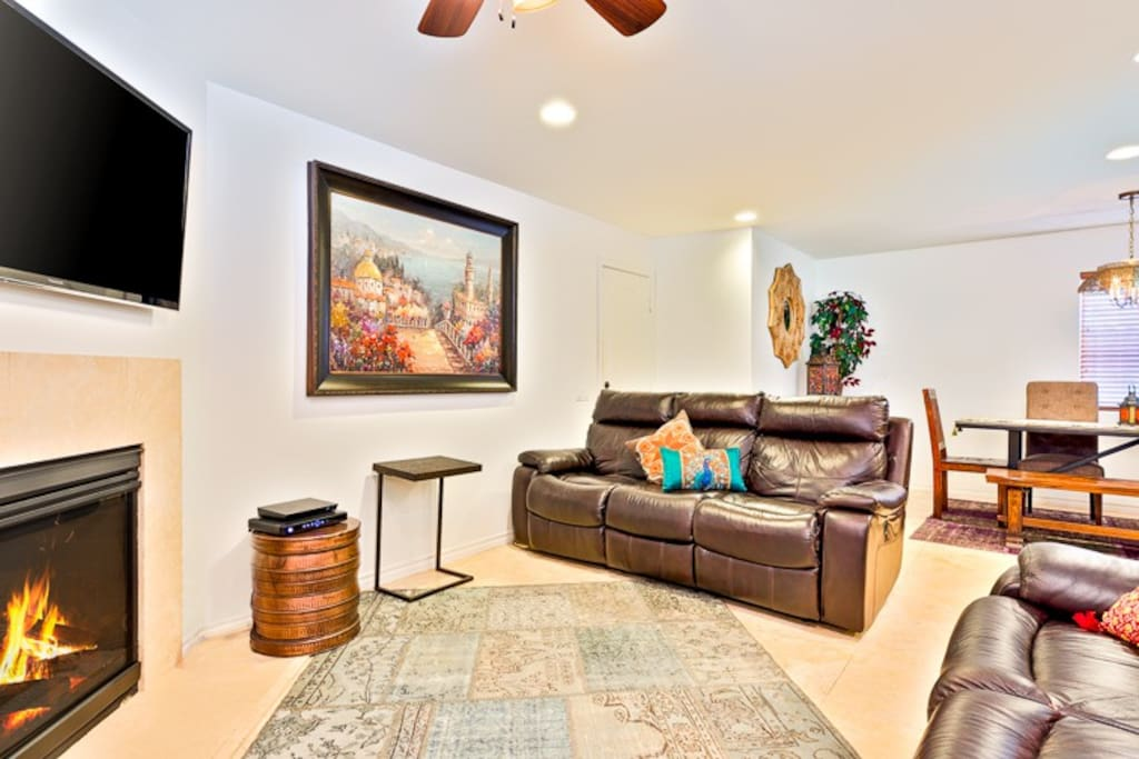 The Living Room is part of the Great Room of this unit along with the Dining Area and Kitchen