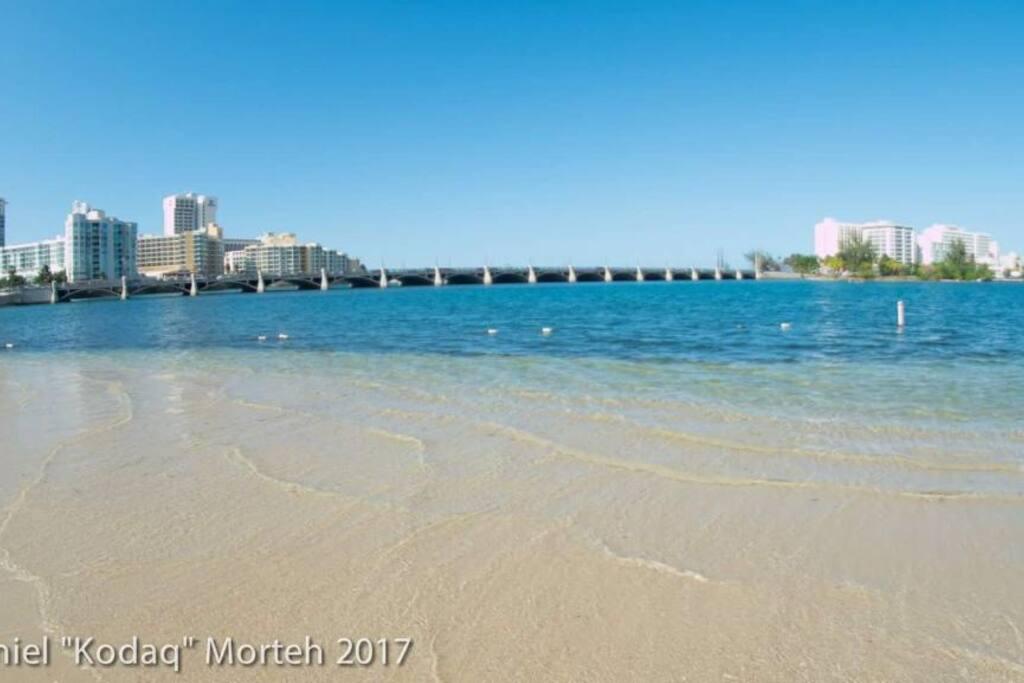 The beach is less than 15 mins away walking :)