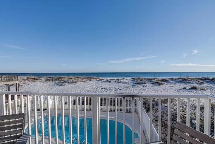Well Established Gulf front Home with Private Pool! - Triple Seas