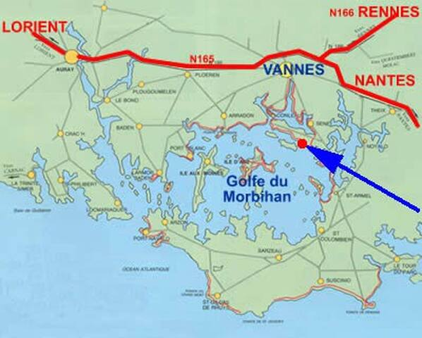 Votre gîte BERDER * bord du Golfe Morbihan 45 iles