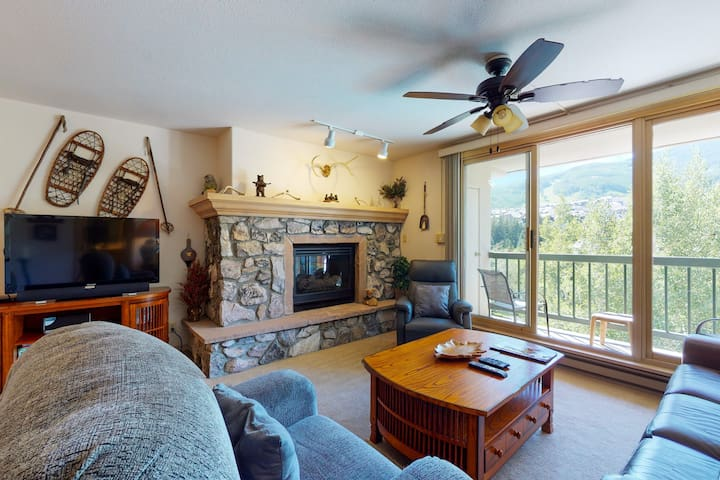 Ski-in/ski-out condo with shared pool and hot tub and more!
