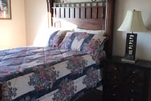 1st bedroom Upstairs with Queen size bed .