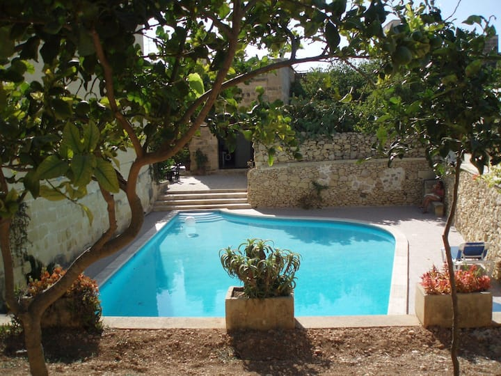 Eco Certified 17 century farmhouse with a large private pool and garden