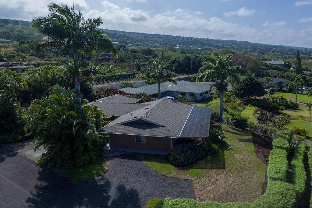 overhead view of home