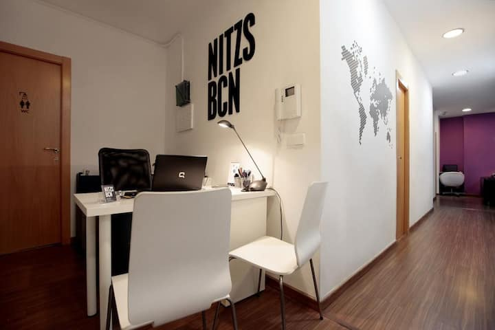 Hostal Nitzs BCN, Small Double w/ Shared Bathroom