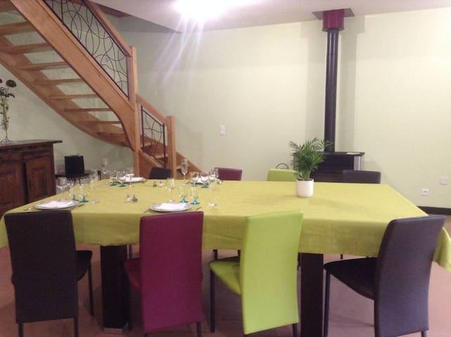 Espace commun, petit déjeuner, Chambre 1 et 2