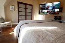 The swivel TV with Netflix and the most comfortable mattress I've ever slept on was exactly what I needed every night.  Natalie -- Feb. 2016
