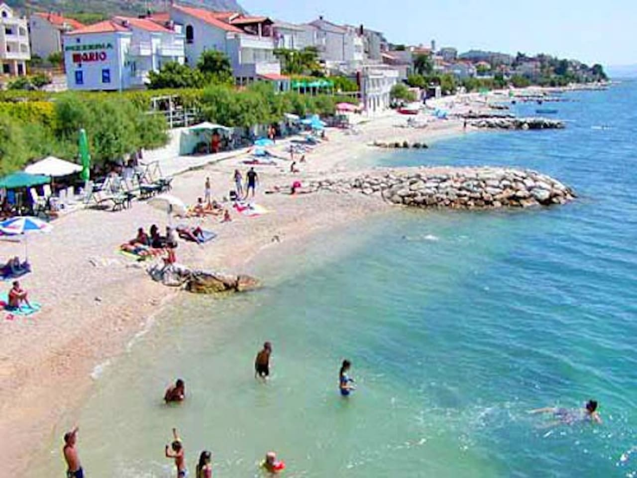 Podstrana, big apartment 20 m from the beautiful Beach