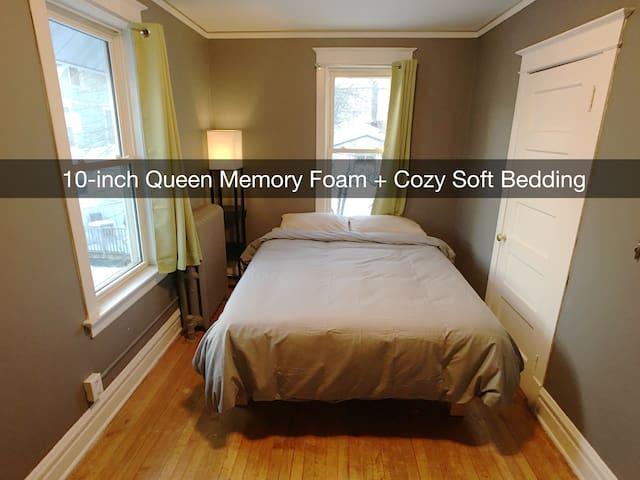 BEST BED in Duluth #2 — cozy, quiet, walk downtown - Duluth - Huis