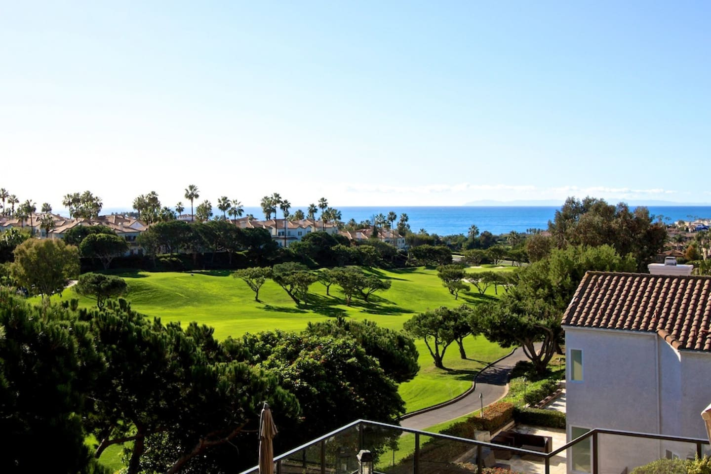 Ocean and golf course view from home