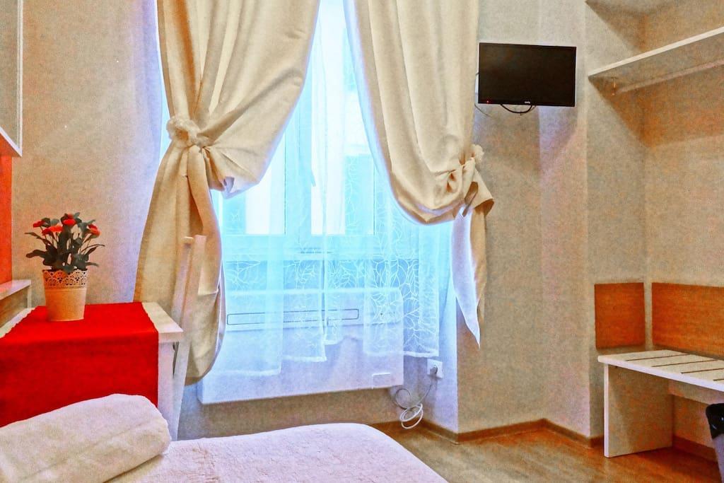 camera singola con bagno condiviso