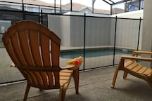 Lounge by the pool and enjoy the great Orlando weather with a screened in patio.