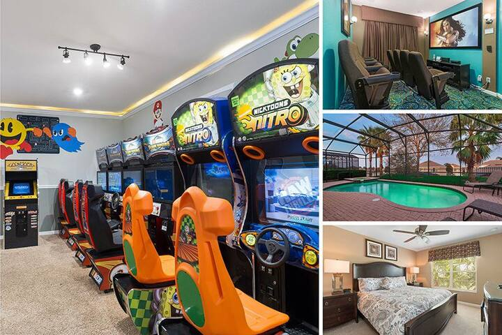 Windsor Luxury; Private Arcades,Theater & Pool-Spa