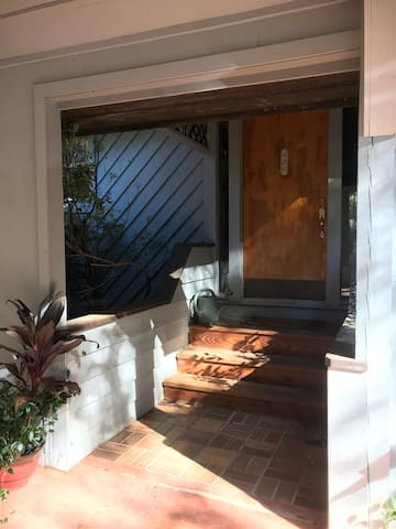 The entrance to Ginger's House