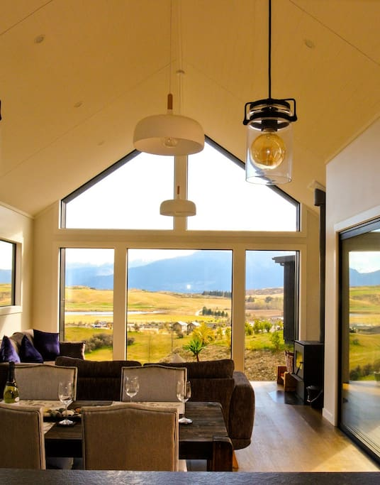 Enjoy a glass of Central Otago Pinot with a view