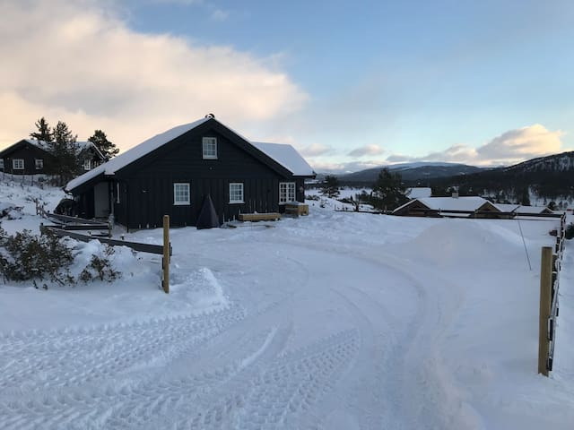 Modern cabin in Gudbrandsdalen by Rondane peaks