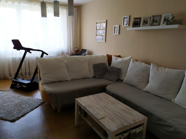 Prostorný, hezký, útulný a čistý byt.