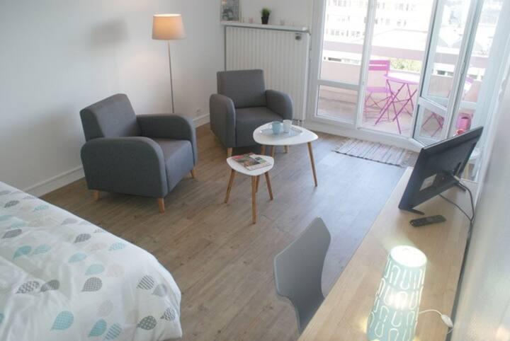 Bel appartement rénové lumineux, balcon + parking