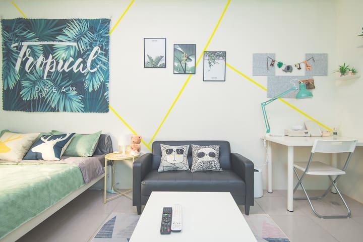 Life House-B 近園區/清大/交大/新莊火車站,背包客&差旅,面試,考試,清新舒適的好選擇