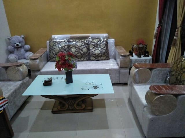 Common Area - Single Bed, A Table & Sofa.