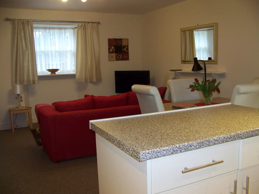 Open plan Siting Room and Kitchen