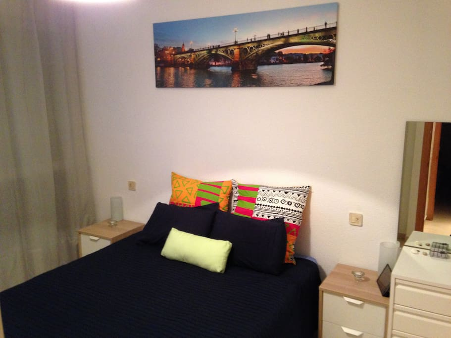 Habitación cómoda de 1,50x2,00m actualizada
