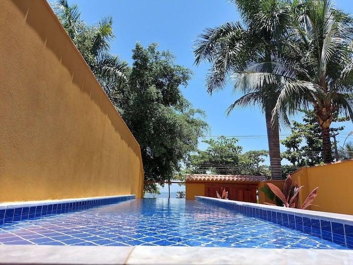 Yara - LANÇAMENTO, 4 suítes , Frente Praia, piscina borda infinita, Churrasqueira, Garagem, Wi-Fi