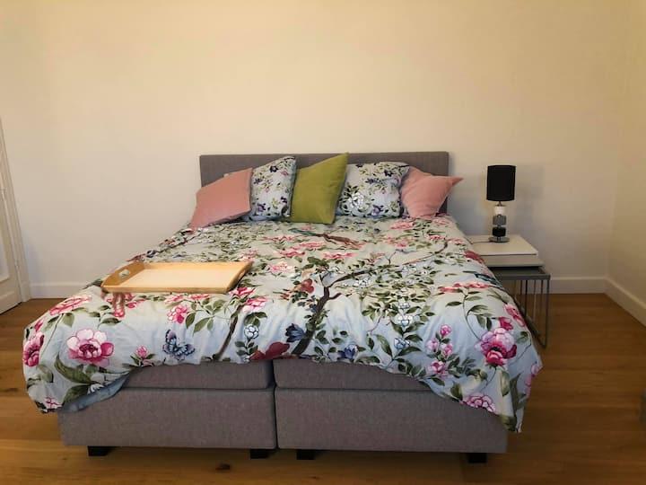 Privé slaapkamer en badkamer in herenhuis