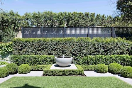 Lux Toorak Family home with pool & designer garden