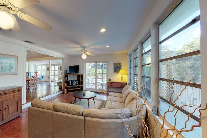 Spacious home with pool, balcony, and a block from Duval Street