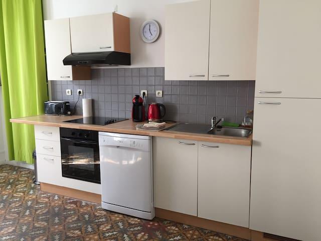 La cuisine et son espace repas
