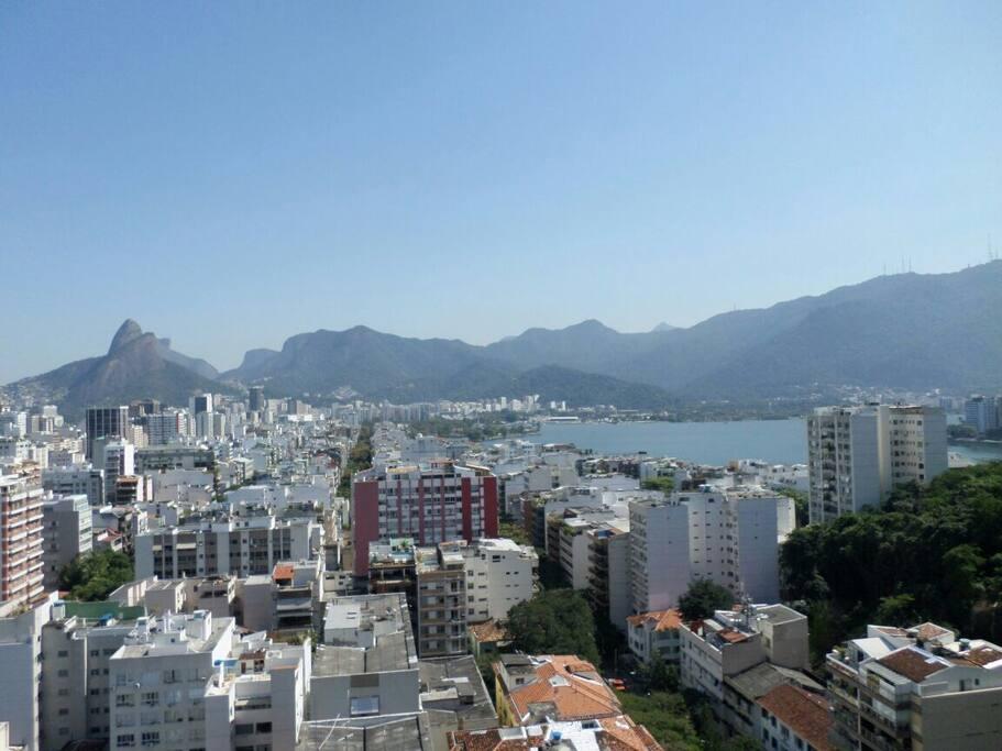 vista do apartamento da Lagoa Rodrigo de Freitas