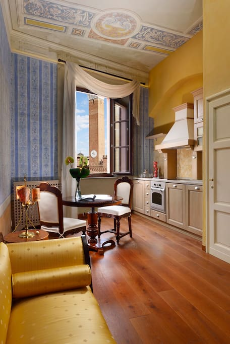 Palazzo Accarigi -  once home of the Accarigi family -  sits in the in the most strategic position of Siena, all the major attractions, shops, restaurants&cafes are right to your doorstep.