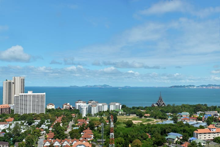 AD Hyatt Condo. Cozy studio with great sea view - Muang Pattaya - Appartement