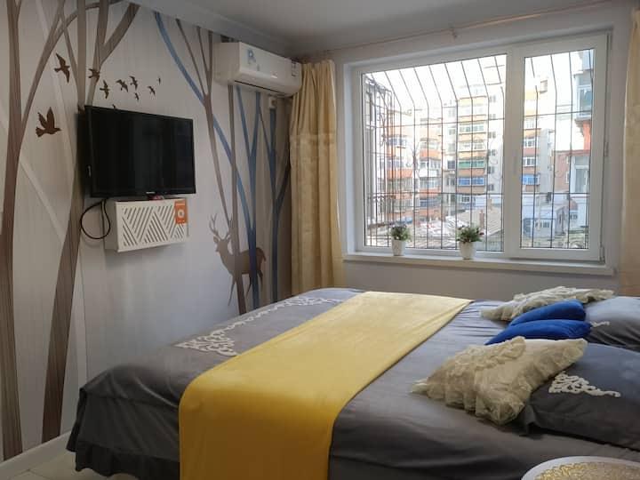 新玛特妇婴医院夜市两室一厅大床房