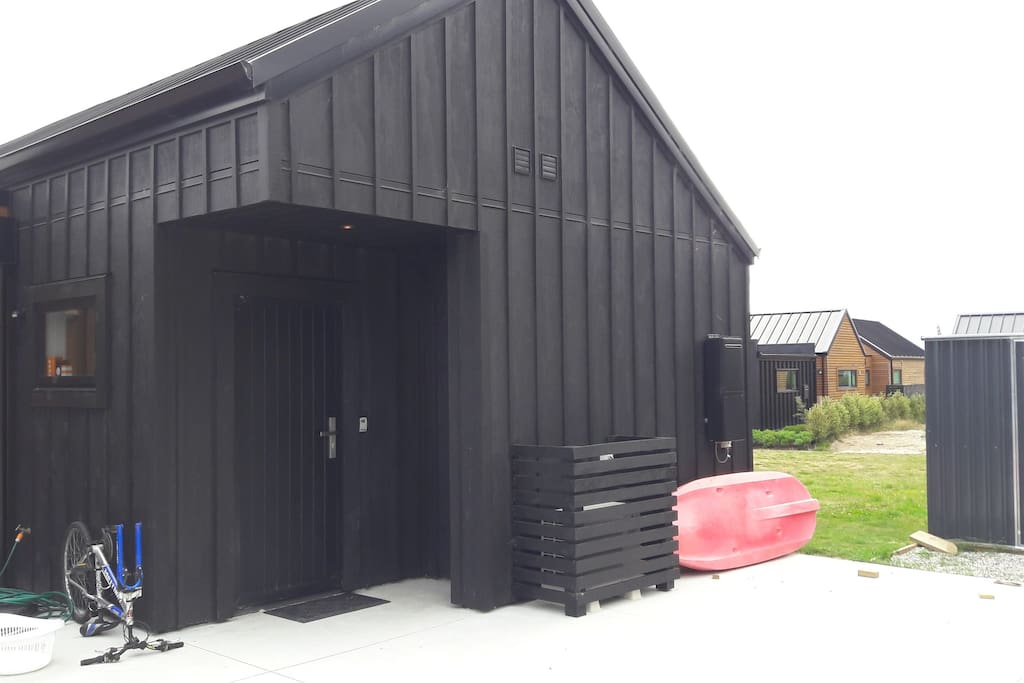 Apartment Door and Parking Area