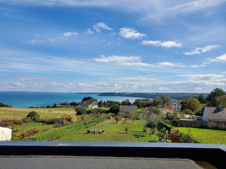 Vue mer panoramique/site naturel  bord de mer
