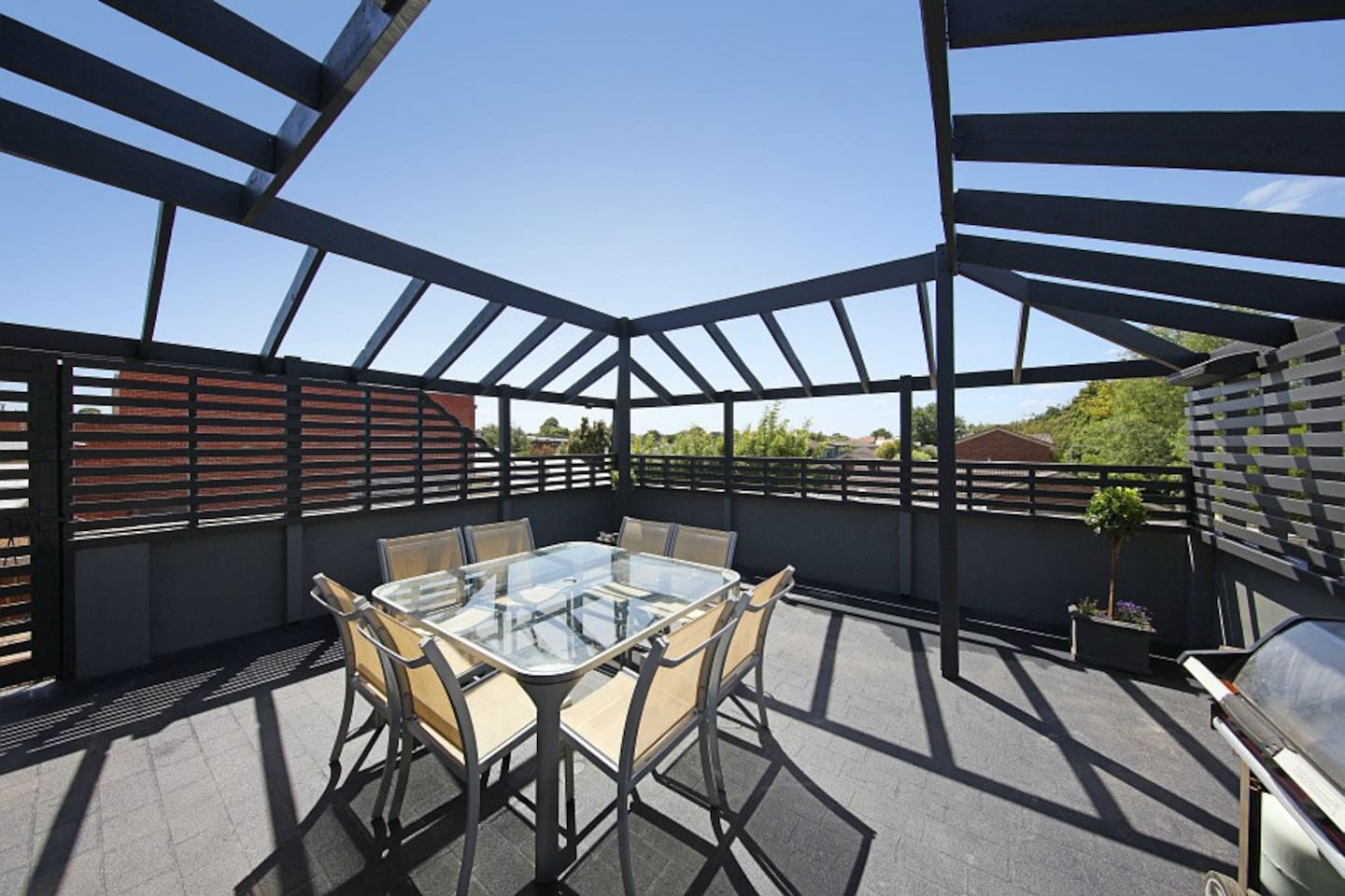 Private rooftop garden, complete with BBQ facilities