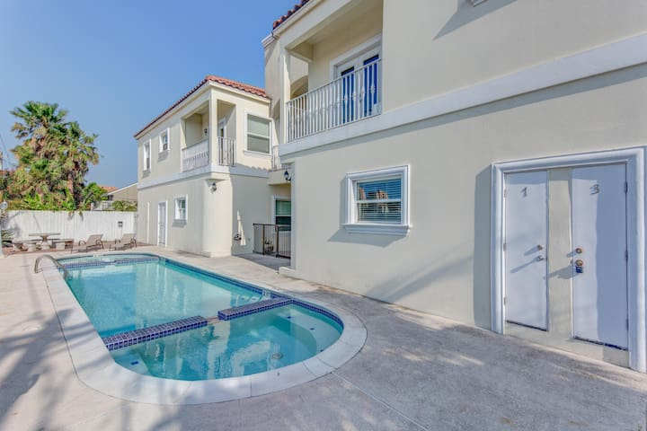 Dog-friendly condo w/ shared pool & hot tub  - one block from the beach