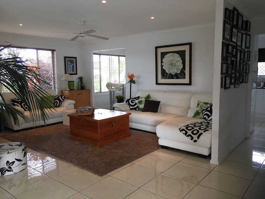 Shared open plan living area