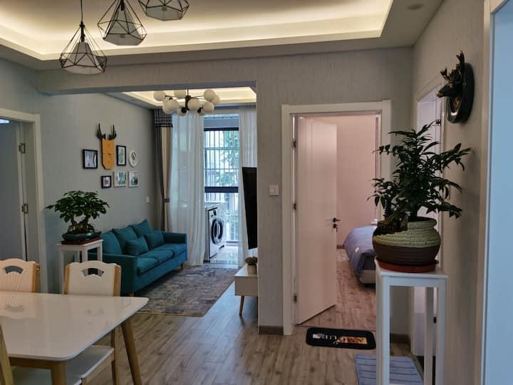 北欧风格公寓   中医院  阳光威尼斯  万达广场 人民路    红街  沃尔玛