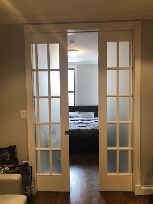 Sliding doors on bedroom one!