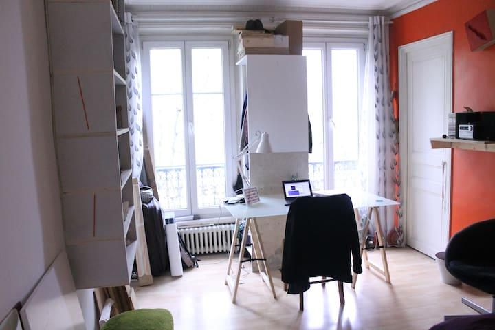 Chambre claire 10ème arr. Paris - Paris - Lägenhet