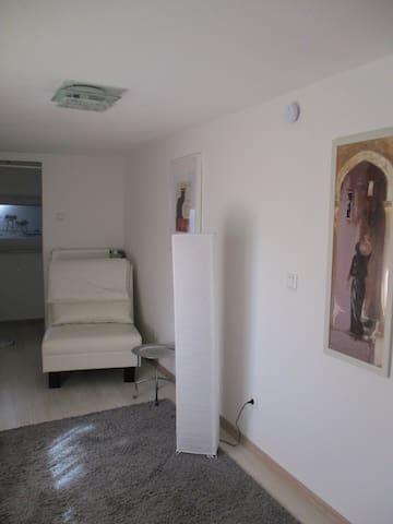 Schlafzimmer 2,  Ausklappbarer Federkernschlafsessel. Ca 88cmx1,90m.