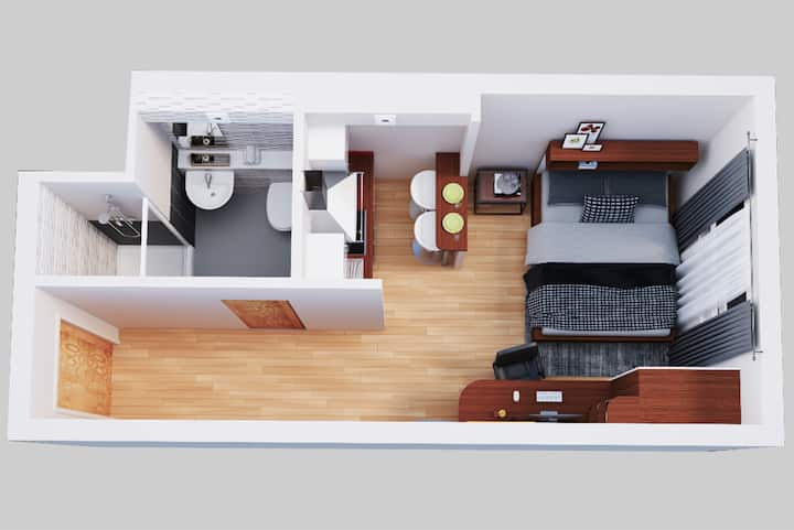 Student Only Property: Contemporary Studio Third Floor