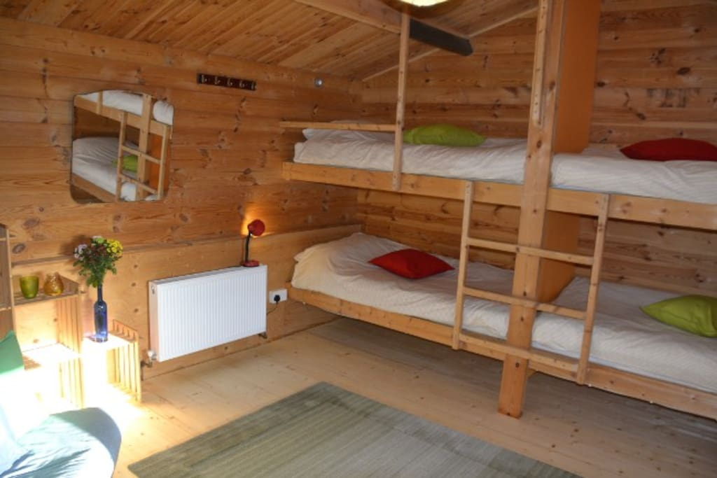 Ultra-Comfy beds in renovated bedroom