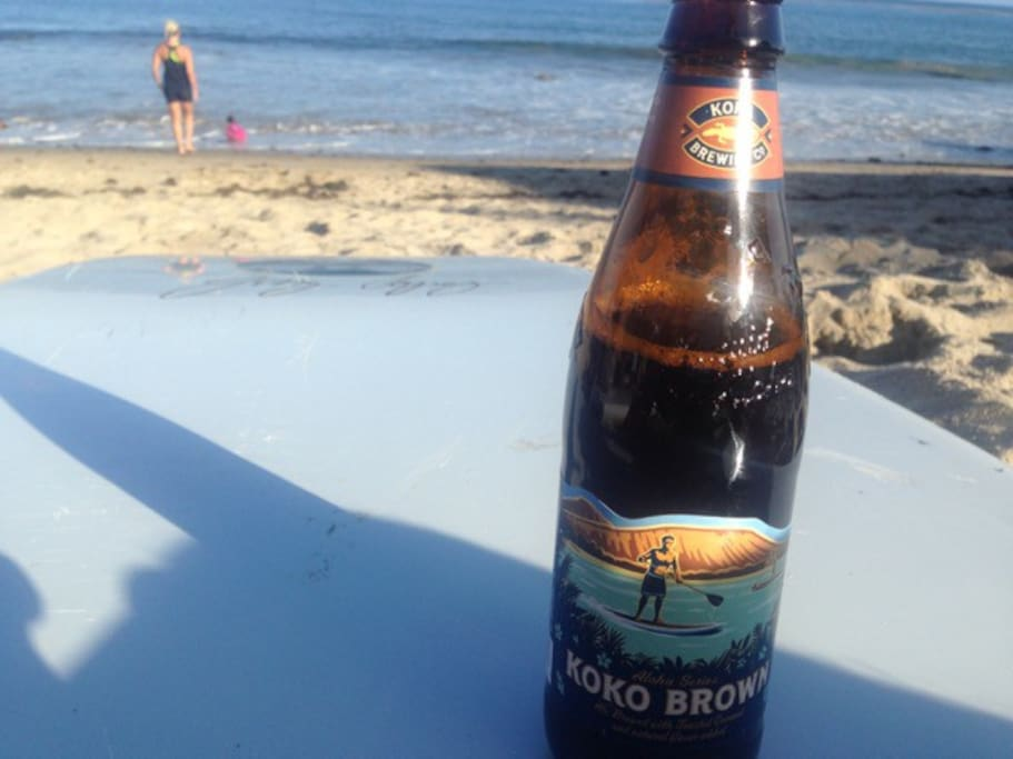 You can enjoy a beer on our private beach area.
